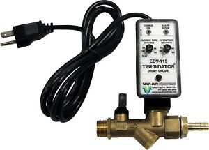 Air Compressor Drain Valve Tank Electric Automatic 6 Foot Power Chord Compressed