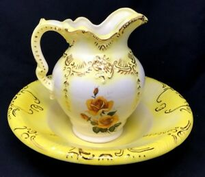 Vintage Beautiful Pitcher And Wash Basin Made By Arners C1950s