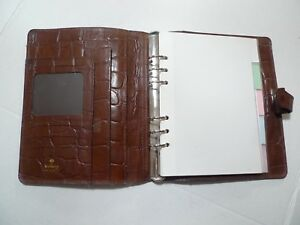 Mulberry Leather Planner Organizer larger Size made In England