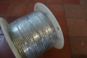 Alpha Wire 1235 Tinned Copper Flat Braid 1 Inch 7 Awg 100 Ft Spool
