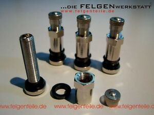 4 Bbs Motorsport Metal Valve Stems Part 09 15 036 0915036