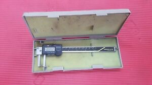 Mitutoyo Japan Made 6 Inch Od Groove Neck Digital Caliper Machinist Tools