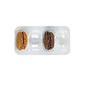 Clear Plastic Macaron Insert With Clip Closure case Of 125 Packnwood