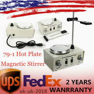79 1 Magnetic Stirrer With Heating Plate Digital Hotplate Mixer Stir Bar 1000ml