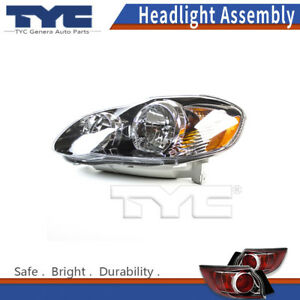 Tyc Headlight Lamps Assembly Left 1pc For Toyota Corolla 2007 08 Capa Certified