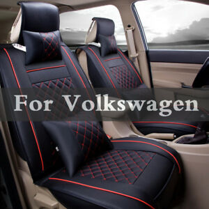 Pu Leather Car Seat Cover For Volkswagen Beetle Bora Eos Fox Golf Gti Plus R