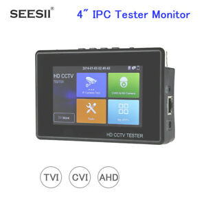 Tvi Cvi Ahd 4 Tester Monitor Security Camera Cvbs Ptz Control Audio Portable