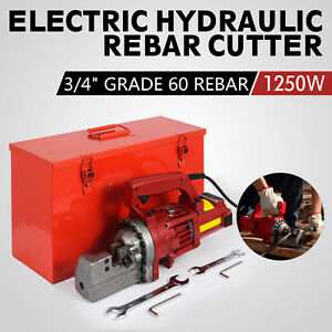 Rc 20 3 4 inch Capacity Hydraulic Rebar Cutter Electric Round Steel Grade 60