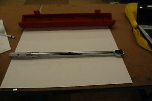 Proto 1 2 Drive Ratcheting Head Micrometer Torque Wrench 50 250 Ft Lbs