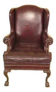 F30099ec Ball Claw Wing Back Easy Chair W Lackawanna Leather