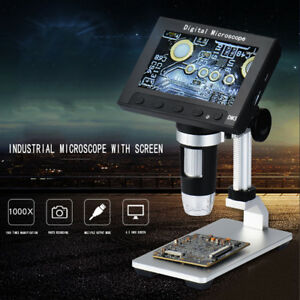 1000x Microscope 4 3 lcd Digital Electronic Led Monitor Magnifier Portable D1r6z