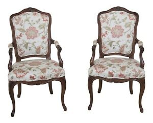 F30469ec Pair Karges French Style Open Arm Chairs