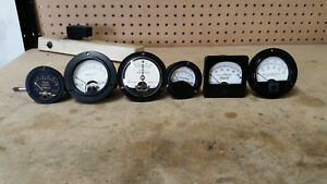 6 Vintage Meters Morion Electrical Weston Elec Roller smith Triplett And Mor