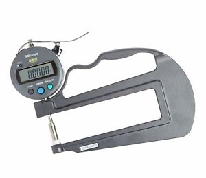 Mitutoyo 547 520s Digital Thickness Gauge With Flat Anvil 120mm Throat Depth
