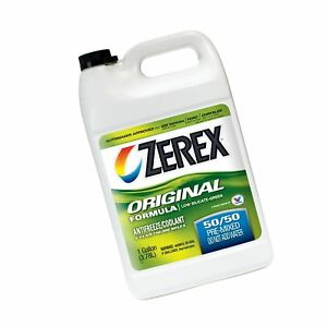 Zerex Original Green Antifreeze coolant Ready To Use 1gal case Of 6