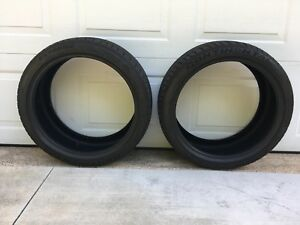 Two 2 255 35r19 96y Continental Extremecontacts Dw Tires 9 32 Dot 2016 Perfect