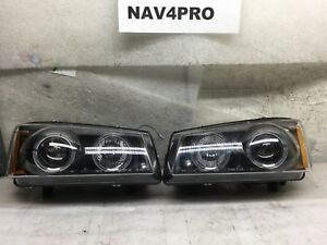 2003 2004 2005 2006 Chevy Silverado Projector Headlight Led Halo Drl Pair H454