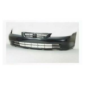 For Honda Accord 2001 2002 Front Bumper Cover Sedan Black New Ho1000200
