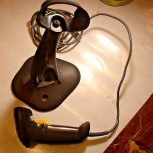 Motorola Symbol Ls2208 Sr20007r ur Barcode Scanner With Stand Usb Cable