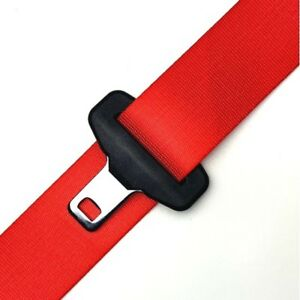 Custom Color Seat Belt Webbing Replacement Service Fire Red
