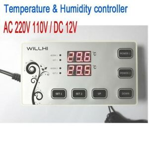 110v 220v 12v Digital Temperature Humidity Controller Thermostat Control