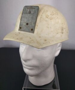 Vtg Apex Miners White Helmet Plastic Safety Cap Hard Hat Miners Construction