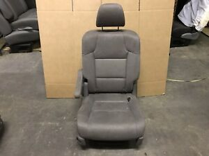 2011 13 Honda Odyssey Grey Cloth Dark 2nd Row Seat Bucket Seat Recline