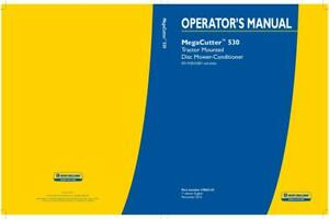 New Holland Mega Cutter 530 Tractor Mounted Disc Mower conditioner Operator s Ma