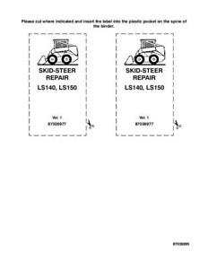 New Holland Ls140 Ls150 Skid Steer Complete Service Manual