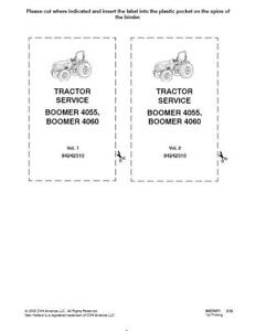 New Holland Boomer 4055 4060 Tractor Service Manual