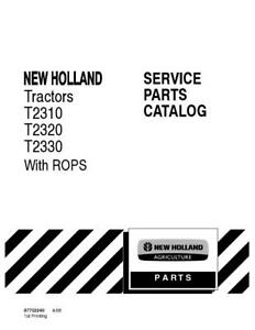 New Holland T2310 t2320 t2330 Tractors With Rops Parts Catalog