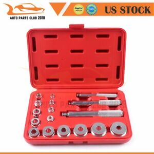 Metric Bushing Bearing Driver 17pc Set Aluminum Install Remove 10 42mm
