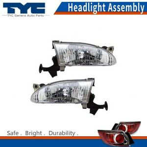 Tyc Headlight Headlamps Assembly Left Right 2pcs For Toyota Corolla 1999 2000
