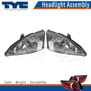 Tyc Headlight Headlamps Assembly Left Right 2pcs For Ford Focus Lx 2000 2002