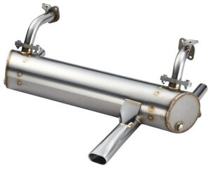 New Vintage Speed Single Tip 25hp 36hp Stainless Exhaust For Vw Volkswagen