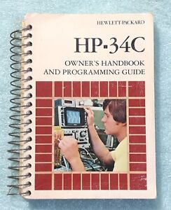 Vintage Owner s Handbook For Hp 34c Calculator
