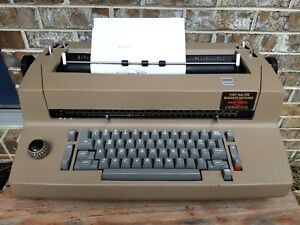 Vintage Ibm Selectric Ii Correcting Tan Electric Typewriter W Ribbon Works Read