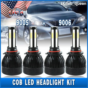 9005 9006 Led Headlight Kit White Bulbs For Honda Civic 2004 2013 High Low Beam