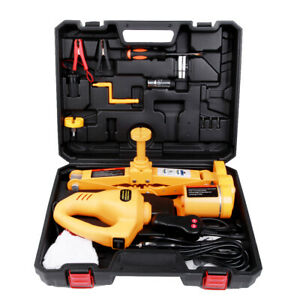 12v Electric Car Floor Jack Set 3t Scissor Lift Jack With Impact Wrench