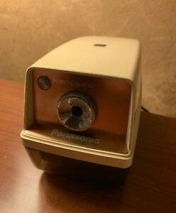 vtg panasonic Point o matic electric Pencil Sharpener Kp 33a Japan Lights Up