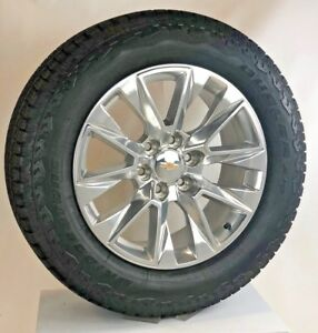 New 2019 Takeoff 20 Chevy Silverado Tahoe Polished Wheels Bridgestone A T Tires