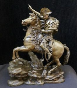C1840 Napoleon Crossing The Alps In Bronze Attributed To Jean Francois Gechter