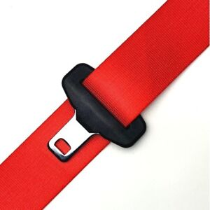 Seat Belt Webbing Replacement Fire Red
