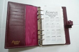 Filofax Leather Planner 1991 Vintage With Inserts Made In England