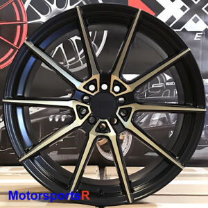 Xxr 567 Wheels 18x9 5 20 Black Bronze Rims 5x114 3 08 15 Mitsubishi Evo X Fe Mr