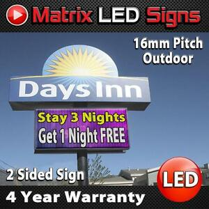 Led Sign Outdoor Full Color 2 Sided Programmable Message Display Digital Sign
