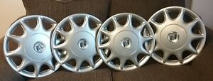 97 03 Buick Century 15 Hubcaps Set Of 4 Wheel Cover Center Cap Gm 9592348 1148a