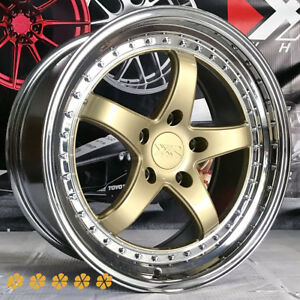 Xxr 565 18x8 5 35 Gold Pvd Lip Rims Wheels 5x114 3 02 06 Acura Rsx Type S 04 Rl