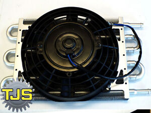 new 10 x7 Aluminum Core Low Profile Automatic Transmission Oil Cooler With Fan