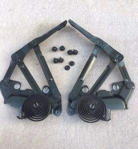 1994 2001 Dodge Ram 1500 2500 3500 Hood Hinges Left Right With Bolts Green Oem